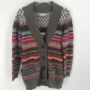 "Billabong cardigan sweater ""chunky knit"" woman's L"